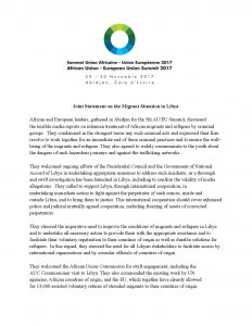 Joint Statement on the Migrant Situation in Libya_AU-EU Summit 2017