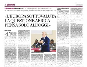 Intervista su Eco di Bergamo_Franco Cattaneo