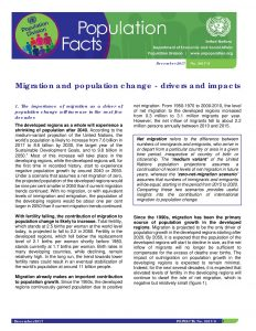 Population Facts - Migration and Population Change - Dec 2018_UN